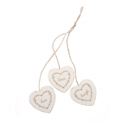 'Love, Live, Laugh' Hanging Hearts