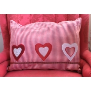 Gingham Heart Cushion Cover