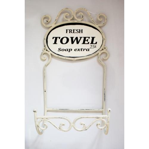 Vintage Towel Storage: Antique Towel Holder