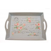 Grey Chintz Tray