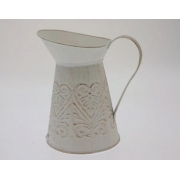 White Metal Lipped Jug