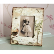 Antique Parisian Bird Photo Frame