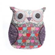 Vintage Floral Owl Cushion
