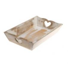 Wooden Heart Tray