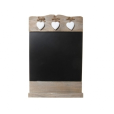 Wooden Heart Blackboard
