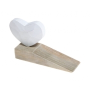 Wooden Heart Doorstop