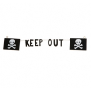 Pirate Skull Garland 'Keep Out'