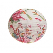 Cream Floral Fabric Lampshade