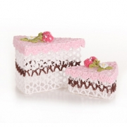 Slice of Cake Crochet Box