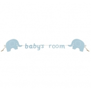 Baby's Room Blue Elephant Garland