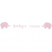 Baby's Room Pink  Elephant Garland